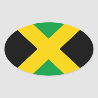 Flag of Jamaica Oval Sticker
