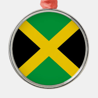 Flag of Jamaica Silver-Colored Round Ornament