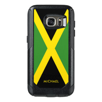 Flag of Jamaica with Personalized Name OtterBox Samsung Galaxy S7 Case