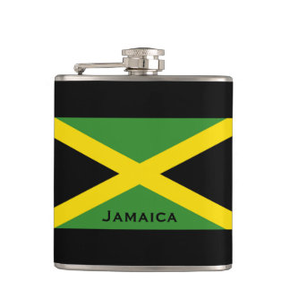 Flag of Jamaica World Flags Green Hip Flask