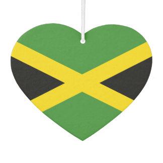 Flag of Jamaican on metal background Air Freshener