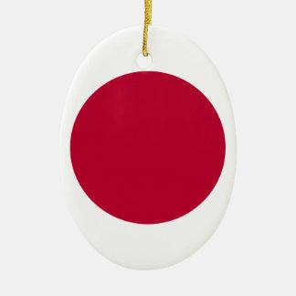 Flag of Japan - 日章旗 - 日の丸 - 日本の国旗 Ceramic Ornament