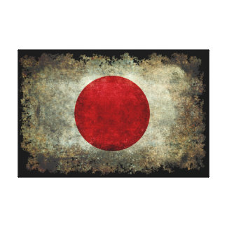 Flag of Japan in vintage retro style Canvas Print