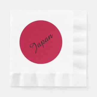 Flag of Japan or Hinomaru Disposable Napkins