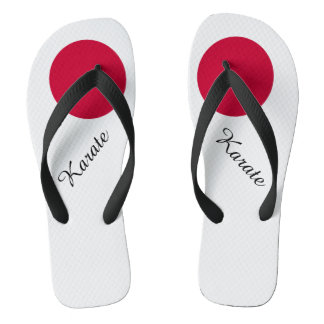 Flag of Japan or Hinomaru Flip Flops