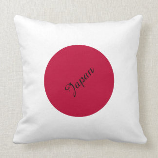Flag of Japan or Hinomaru Throw Pillow
