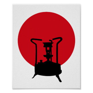 Flag of Japan | Vintage Pressure Stove Poster