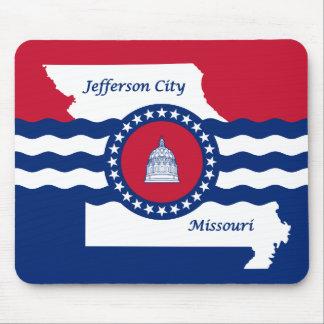 Flag of Jefferson city, Missouri Mouse Pad