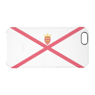Flag of Jersey Silver iPhone Case