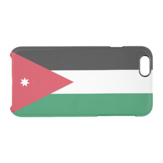 Flag of Jordan Clear iPhone Case