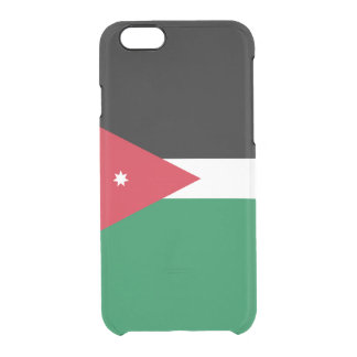 Flag of Jordan Clear iPhone Case