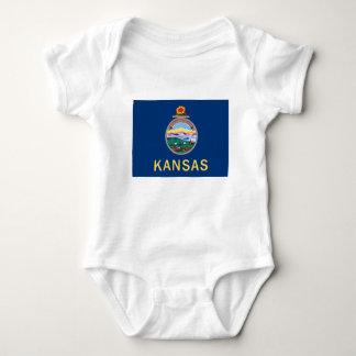 Flag Of Kansas Baby Bodysuit