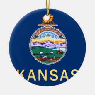 Flag Of Kansas Ceramic Ornament
