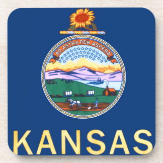 Flag Of Kansas Coaster