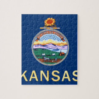 Flag Of Kansas Jigsaw Puzzle