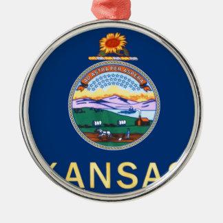 Flag Of Kansas Metal Ornament