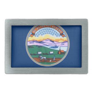 Flag Of Kansas Rectangular Belt Buckle