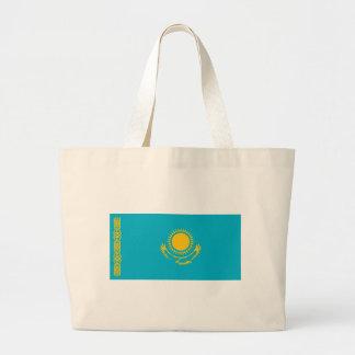 Flag_of_Kazakhstan Large Tote Bag