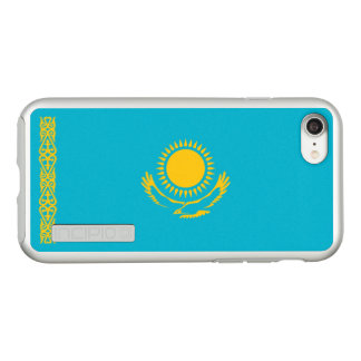 Flag of Kazakhstan Silver iPhone Case