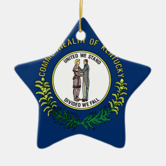 Flag Of Kentucky Ceramic Ornament