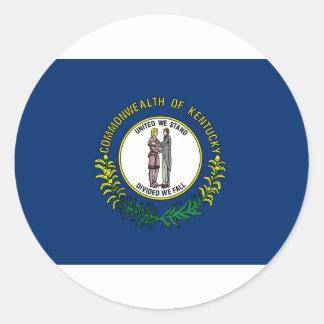 Flag Of Kentucky Classic Round Sticker