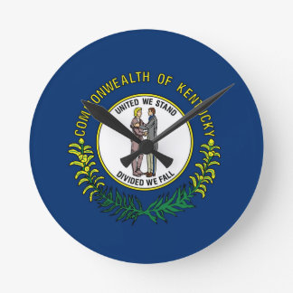 Flag Of Kentucky Round Clock