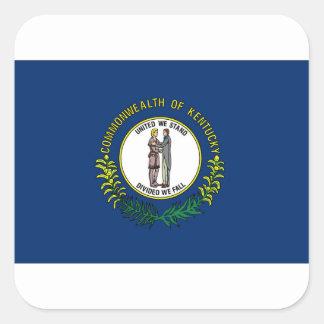 Flag Of Kentucky Square Sticker