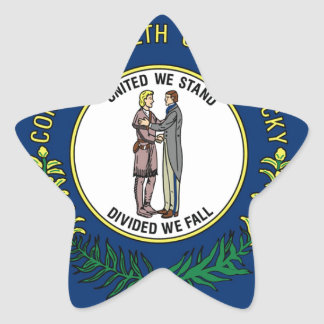 Flag Of Kentucky Star Sticker