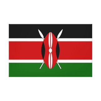 Flag of Kenya Canvas Print