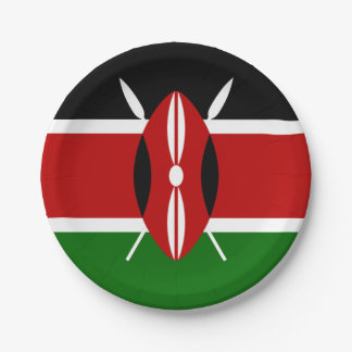 Flag of Kenya Paper Plates
