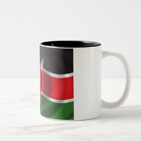 Flag of Kenya Two-Tone Coffee Mug
