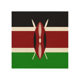 Flag of Kenya Wood Print