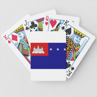 Flag of Khmer Republic (សាធារណរដ្ឋខ្មែរ) Bicycle Playing Cards
