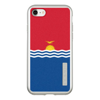 Flag of Kiribati Silver iPhone Case