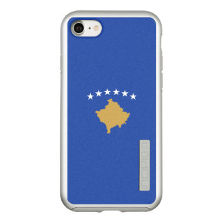 Flag of Kosovo Silver iPhone Case