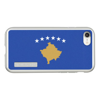 Flag of Kosovo Silver iPhone Case