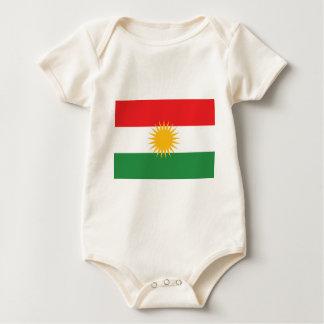 Flag of Kurdistan (Alay Kurdistan or Alaya Rengîn) Baby Bodysuit