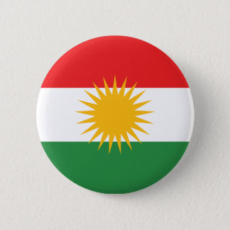 Flag of Kurdistan; Kurd; Kurdish 2 Inch Round Button