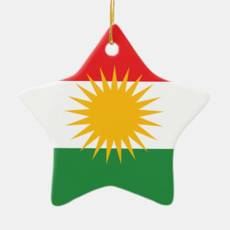 Flag of Kurdistan; Kurd; Kurdish Ceramic Star Ornament