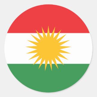 Flag of Kurdistan; Kurd; Kurdish Classic Round Sticker