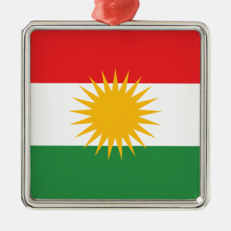 Flag of Kurdistan; Kurd; Kurdish Metal Ornament