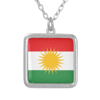 Flag of Kurdistan; Kurd; Kurdish Silver Plated Necklace