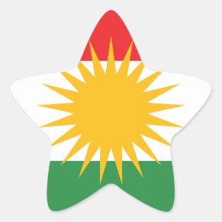 Flag of Kurdistan; Kurd; Kurdish Star Sticker