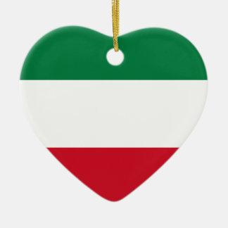 Flag_of_Kuwait Ceramic Heart Ornament