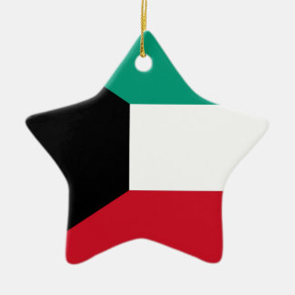 Flag of Kuwait Ceramic Star Ornament
