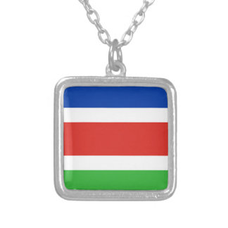 Flag of Laarbeek Silver Plated Necklace