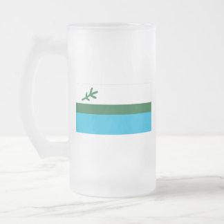 Flag of Labrador Frosted Glass Beer Mug
