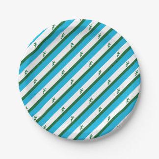 Flag of Labrador Paper Plate