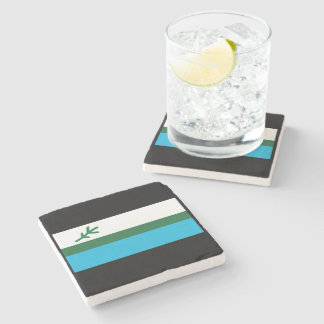 Flag of Labrador Stone Beverage Coaster