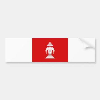 Flag of Laos (1952-1975) - ທຸງຊາດລາວ Bumper Sticker